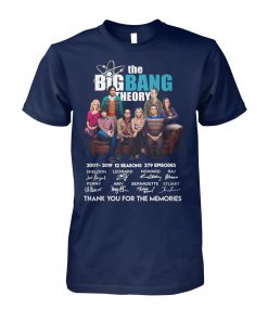 The big bang theory characters signature unisex cotton tee