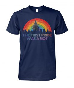 The first gay pride was a riot LGBT unisex cotton tee