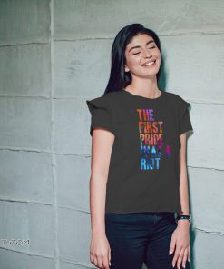The first gay pride was a riot for lgbt pride shirt