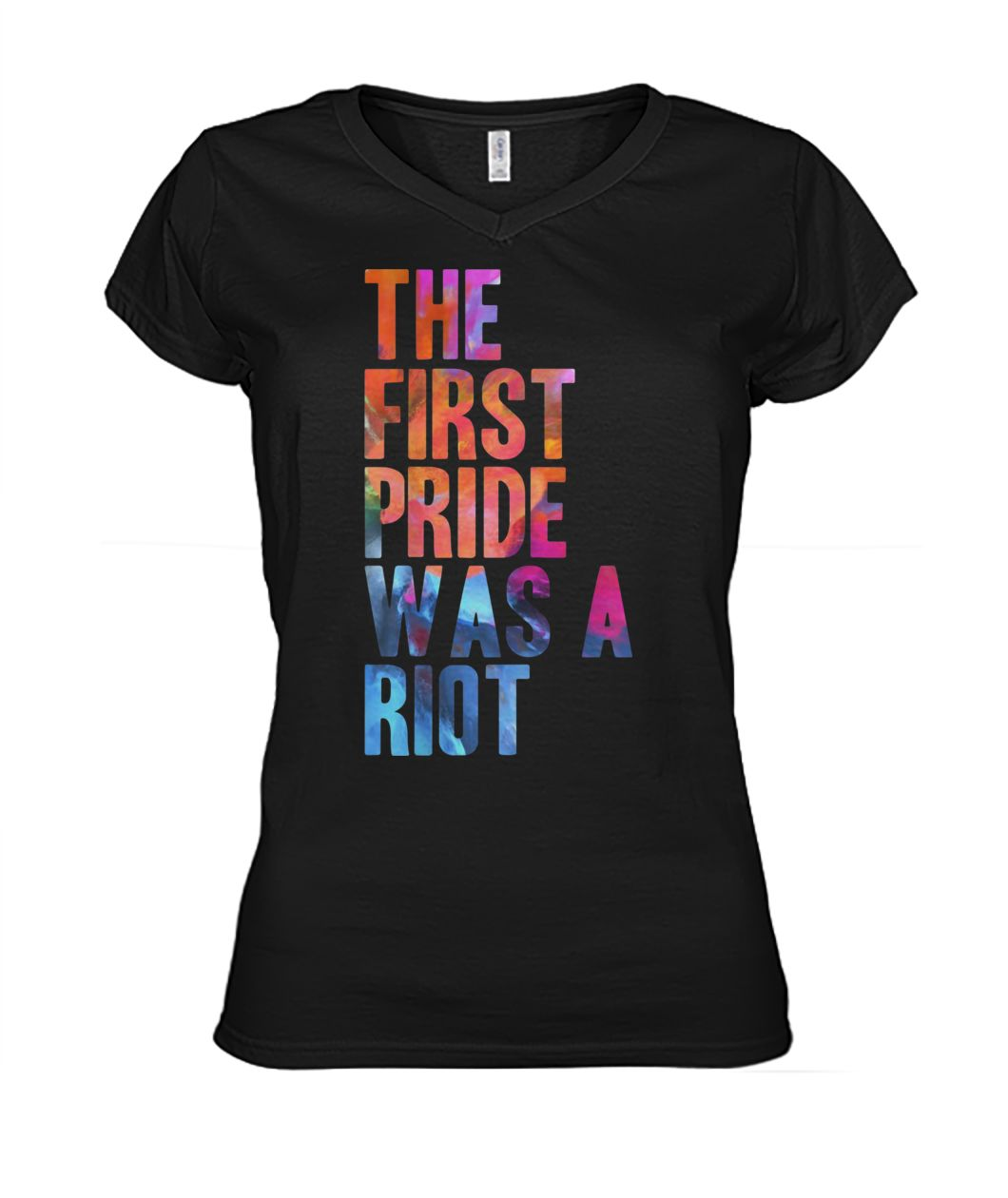 The first gay pride was a riot for lgbt pride women's v-neck
