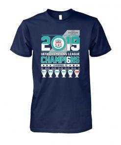UEFA champions league 2019 champions liverpool fc unisex cotton tee