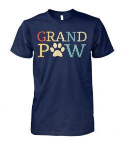 Vintage grand paw dog lover unisex cotton tee