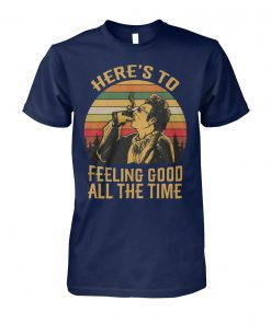 Vintage krame here's to feeling good all the time seinfeld unisex cotton tee