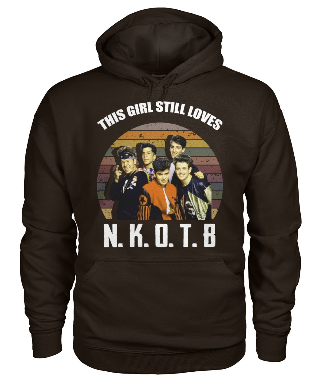 Vintage this girl still loves nkotb gildan hoodie
