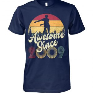 10th birthday awesome since 2009 floss like a boss unisex cotton tee