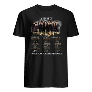 12 years of the twilight saga signatures thank you for the memories men's shirt