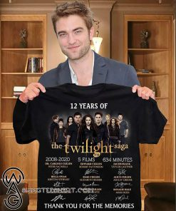12 years of the twilight saga signatures thank you for the memories shirt