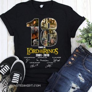 18 years of the lord of the rings 2001 2019 signatures shirt