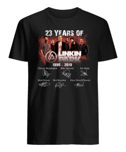 23 years of linkin park 1996 2019 signatures men's shirt