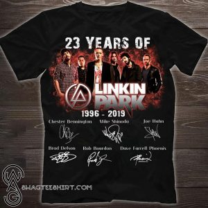 23 years of linkin park 1996 2019 signatures shirt
