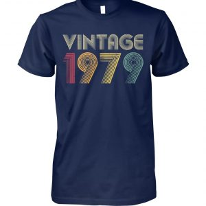 40th birthday vintage 1979 unisex cotton tee