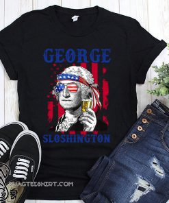 4th of july george sloshington american flag beer george washington shirt
