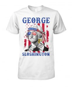 4th of july george sloshington american flag beer george washington unisex cotton tee
