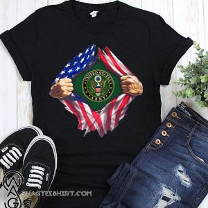 4th of july united states army inside american flag shirt