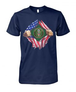4th of july united states army inside american flag unisex cotton tee