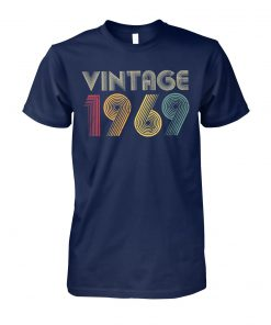 50th birthday vintage 1969 unisex cotton tee