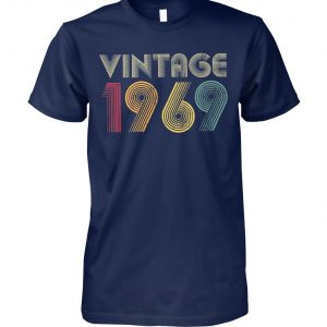 50th birthday vintage 1969 unisex cotton tee