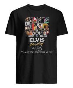 65 years of elvis presley 1954 2019 signature thank you for the memories men's shirt