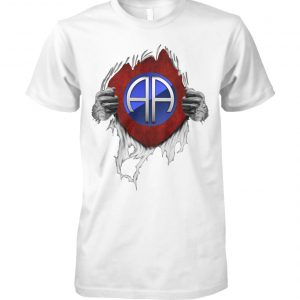 82nd airborne division inside me unisex cotton tee