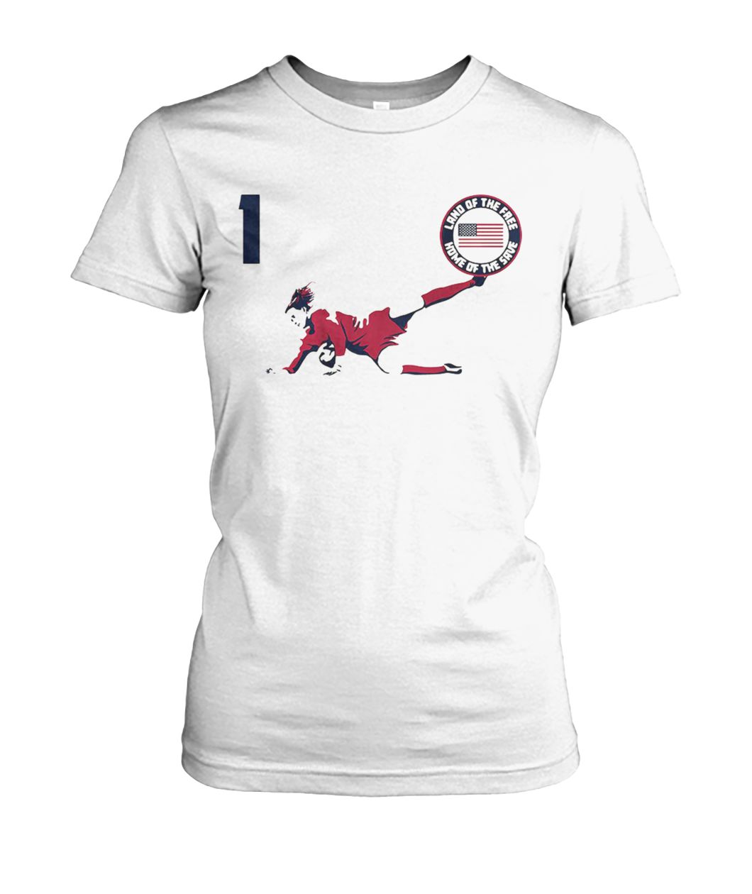 Alyssa Naeher land of the free home of the save women's crew tee