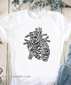 Anatomical heart human heart anatomy shirt