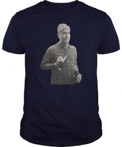 Anthony bourdain's middle finger unisex shirt
