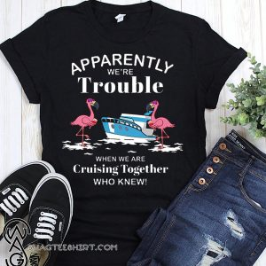 Apparently we're trouble when we are cruising together who knew flamingo shirt