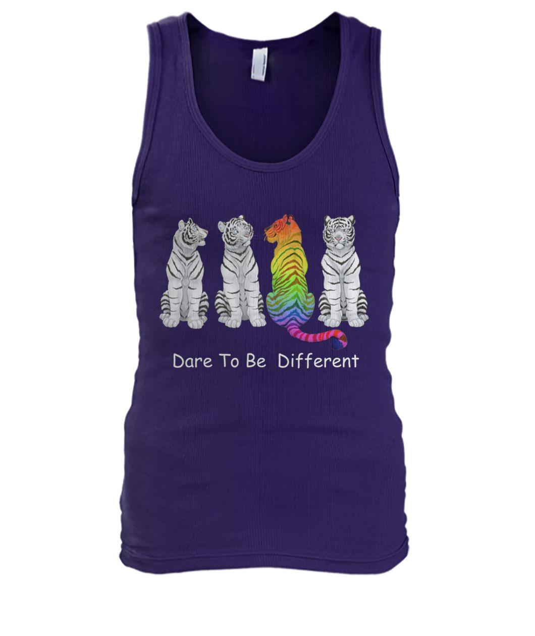 Autism awareness tiger dare to be different men's tank top
