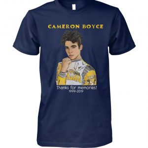 Cameron boyce thanks for memories 1999-2019 unisex cotton tee