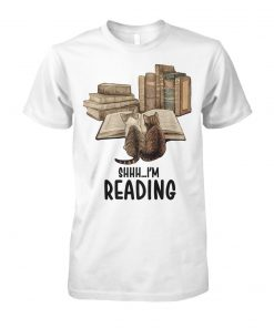 Cat shhh I'm reading book unisex cotton tee