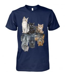 Cats reflection tigers unisex cotton tee