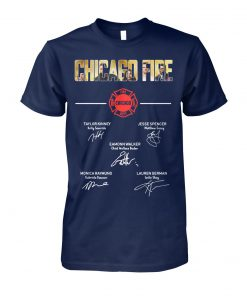 Chicago fire signatures unisex cotton tee