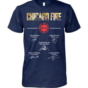 Chicago fire signatures unisex cotton tee