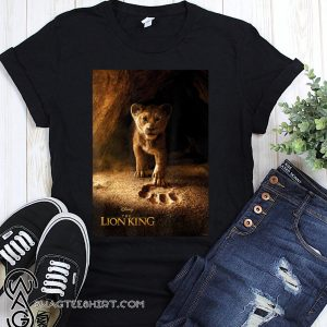 Disney the lion king live action simba paw fill movie poster shirt
