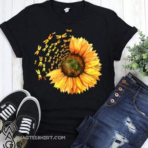 Dragonfly sunflower shirt
