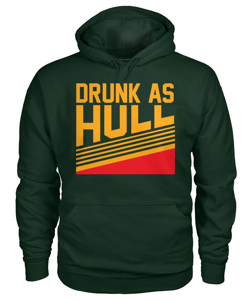 Drunk as hull St louis hockey gildan hoodie