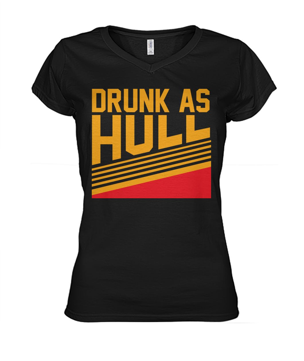 Drunk as hull St louis hockey women's v-neck