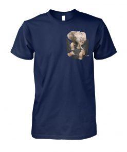 Elephant in pocket unisex cotton tee