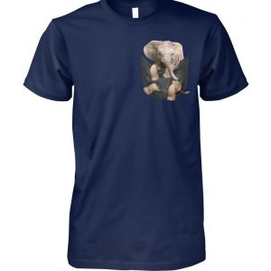 Elephant in pocket unisex cotton tee
