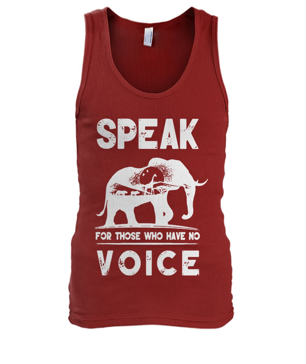 Elephant speak for those who have no voice men's tank top