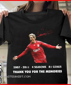 Fernando torres 2007-2011 4 seasons 81 goals thank you for the memories signature shirt