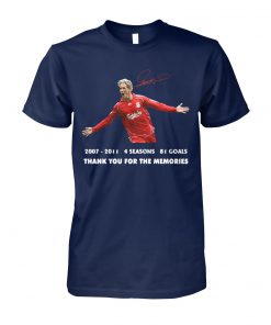 Fernando torres 2007-2011 4 seasons 81 goals thank you for the memories signature unisex cotton tee