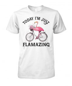 Flamingo today I'm just flamazing unisex cotton tee