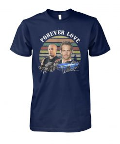 Forever love fast and furious vintage signatures unisex cotton tee