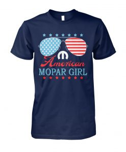 Fourth of july american mopar girl unisex cotton tee
