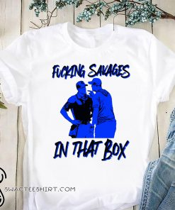 Fucking savages in that box aaron boone new york baseball shirt