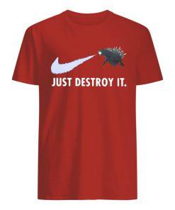 Godzilla just destroy it nike guy shirt