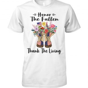 Honor the fallen thank the living memorial day unisex cotton tee