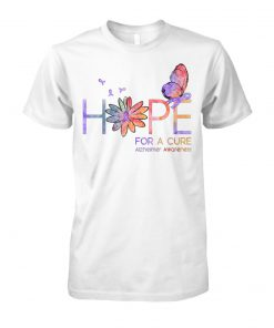 Hope for a cure alzheimer's awareness unisex cotton tee