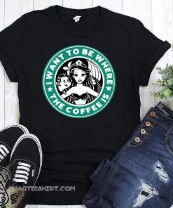 I want to be where the coffee is ariel little mermaid starbucks mashup shirt
